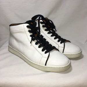 """Frye white leather high top sneaker """"Alexis"""" 8"""